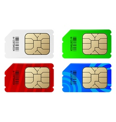 Set of color SIM cards vector image vector image