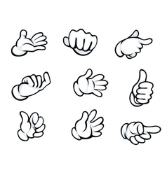 Set of hand gestures vector image