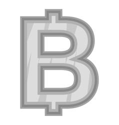 Sign of money bat icon black monochrome style vector image vector image