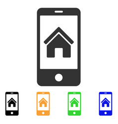 Smartphone homepage icon vector