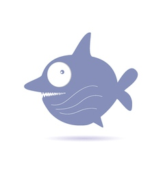 sweet and funny shark vector image vector image