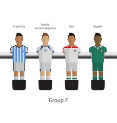 Table football soccer players group f vector