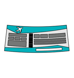 ticket icon image vector image