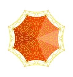 Umbrella top view vector image