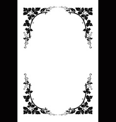 Vector floral border vector