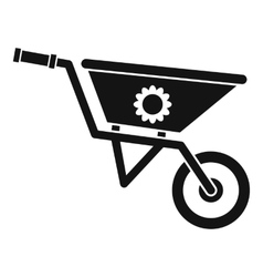 Wheelbarrow icon simple style vector