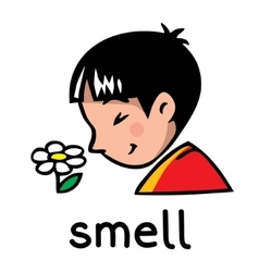 Smell sense icon vector