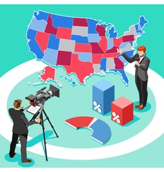 Election news infographic spokesman isometric vector