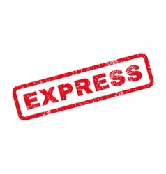 Express text rubber stamp vector