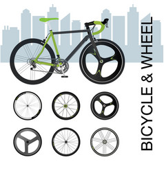 bicycle wheel set vector image