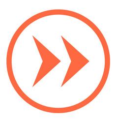 Arrow sign linear circle icon vector