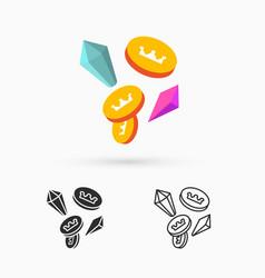 treasure elements vector image