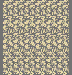 Floral fine seamless pattern vector