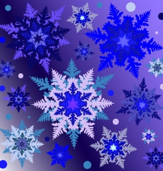 Snowflakes on the gradient square background vector