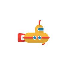 Isolated submarine flat icon periscope vector