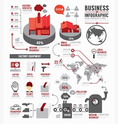 Infographic Business world industry factory vector image