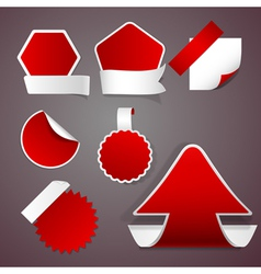 Red stickers vector image