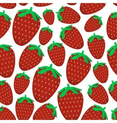 Colorful red strawberries fruits seamless pattern vector