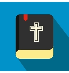 Bible single flat color icon vector