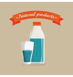 Milk natural product design vector
