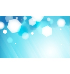 Abstract blue hexagon bokeh background vector image vector image