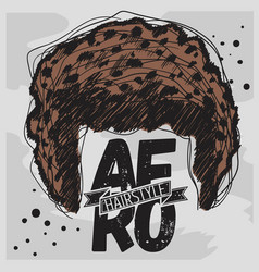 Afro hairstyle curly bulk hair hand drawn sketchy vector