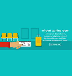 Airport waiting room banner horizontal concept vector