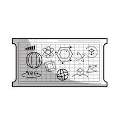 board with geometric figures vector image