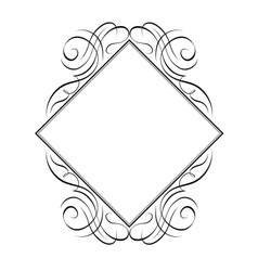Calligraphy diamond pattern vector