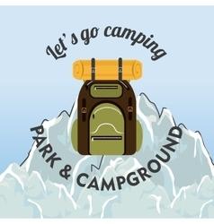 Camping travel and vacations vector