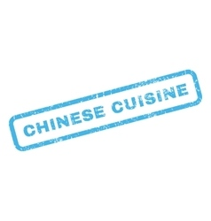 Chinese Cuisine Rubber Stamp vector image vector image