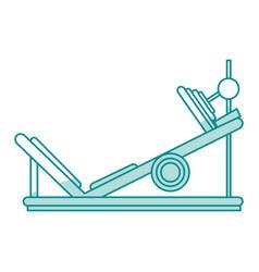 gym machines shadows vector image vector image