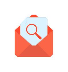 Mail symbol envelope icon search envelope vector