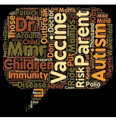 Misguided Parents Put Kids at Risk in Mumps vector image