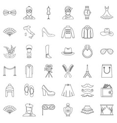 mode icons set outline style vector image vector image