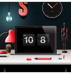Modern design concept office workspace vector