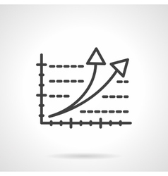 Rating black line icon vector image