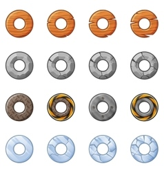 Round blocks for physics game 2 vector