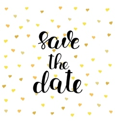 Save the date brush lettering vector