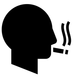 Smoking man icon vector image vector image