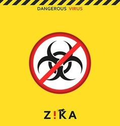 Stop zika dangerous virus caution virus threat vector
