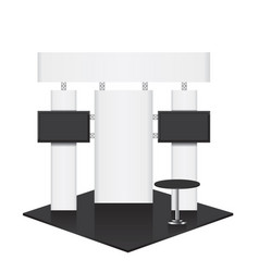 Trade conference exhibition stand vector