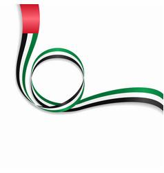 United arab emirates wavy flag background vector