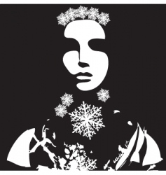 winter portrait vector image