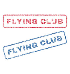 Flying club textile stamps vector