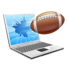 football laptop concept vector image