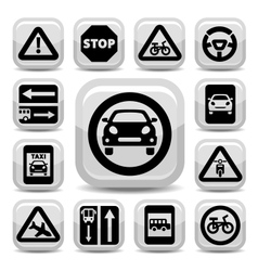 Auto traffic signs vector