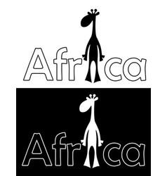 Set with cheerful giraffe isolated vector