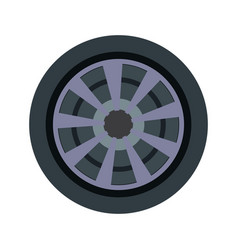 Car wheel and tire rubber steel vehicle icon vector