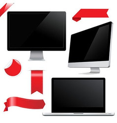 Set Monitors vector image